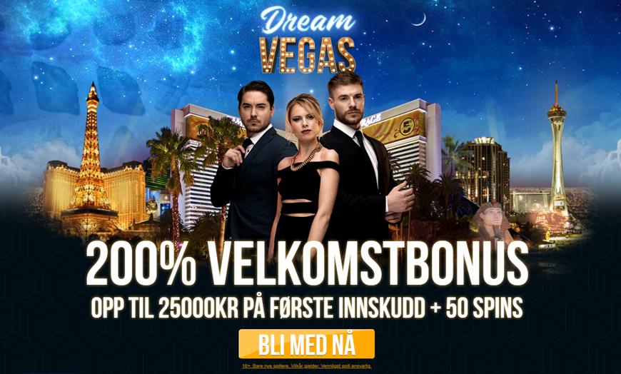 Dream Vegas Casino Banner - Norges.Casino