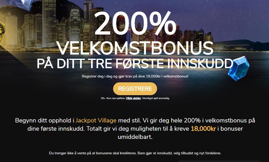 Jackpot Village Casino Banner - Norges.Casino