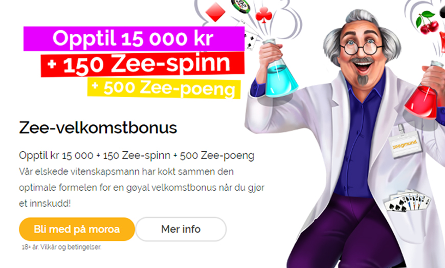 Playzee Casino Banner - Norges.Casino