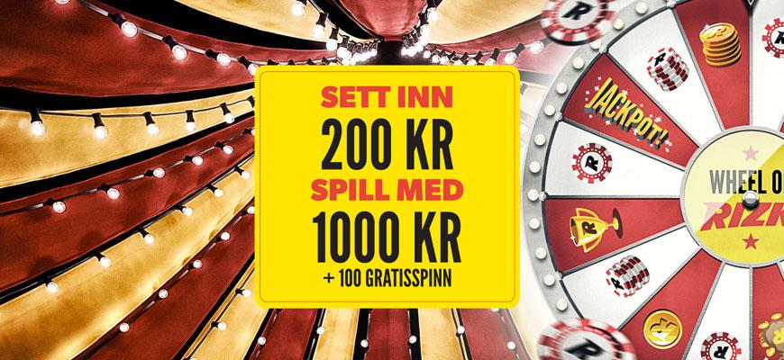 Rizk Casino inner - Norges Casino