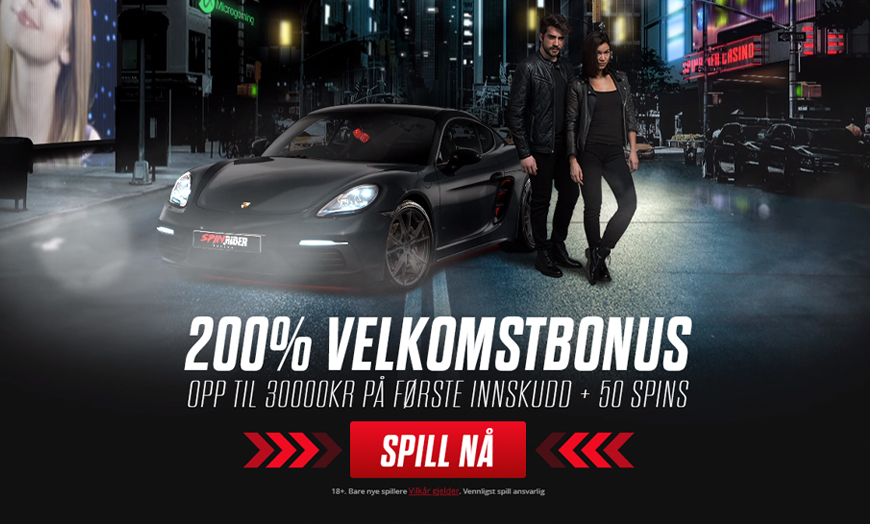 Spin Rider Casino Banner - Norges.Casino