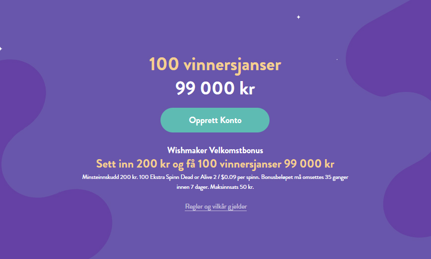 Wishmaker Casino Banner - Norges.Casino