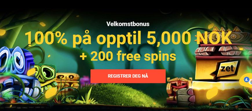 Zet Casino Banner - Norges.Casino