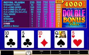 Double Bonus Poker Image