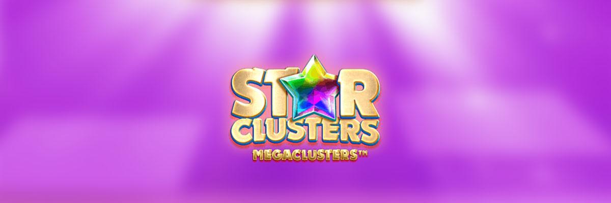 En spilleautomat du må teste er Star Clusters MegaClusters Banner