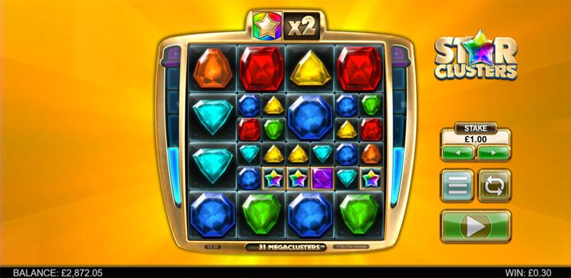 En spilleautomat du må teste er Star Clusters MegaClusters inner - Norges.Casino