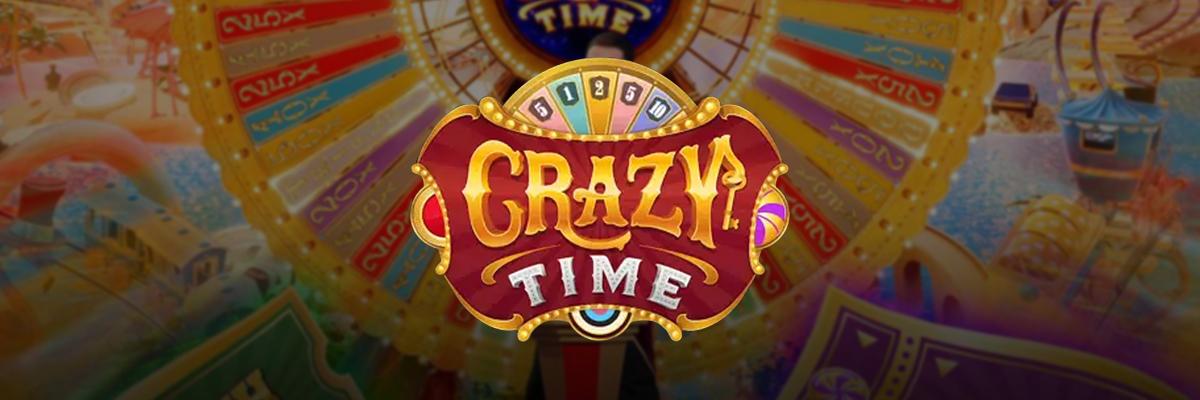 Evolution Gaming lanserer Crazy Time Banner