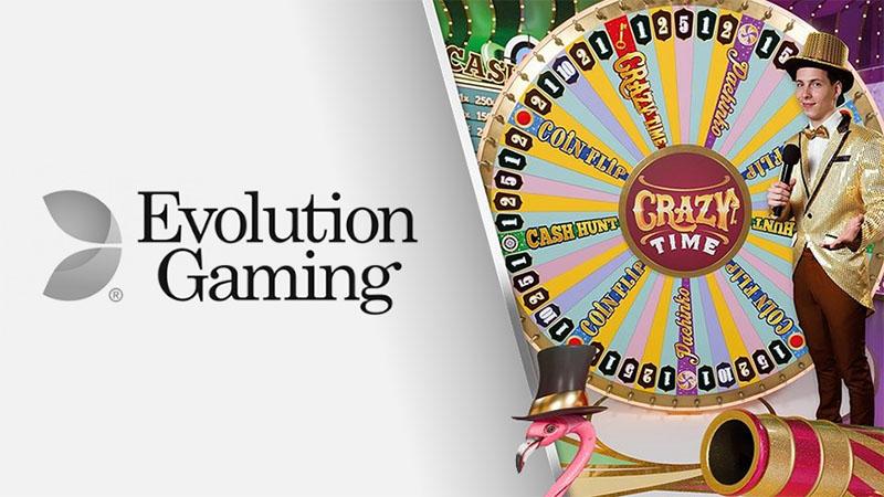 Evolution Gaming lanserer Crazy Time inner - Norges.Casino