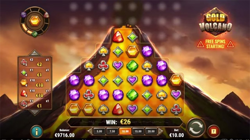 Gold Volcano Slot - Norges.Casino