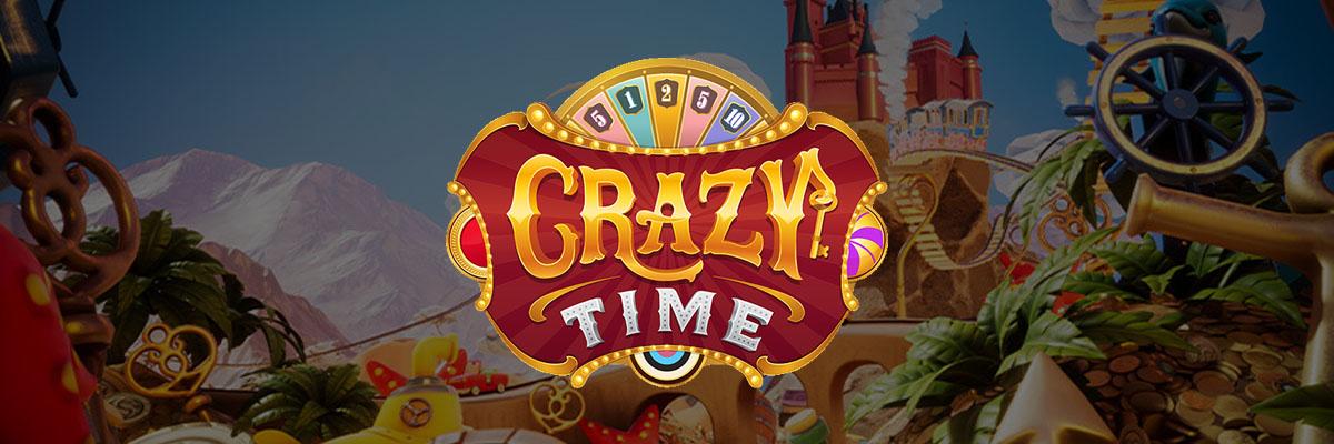 Nå kan du teste Crazy Time fra Evolution Gaming Banner