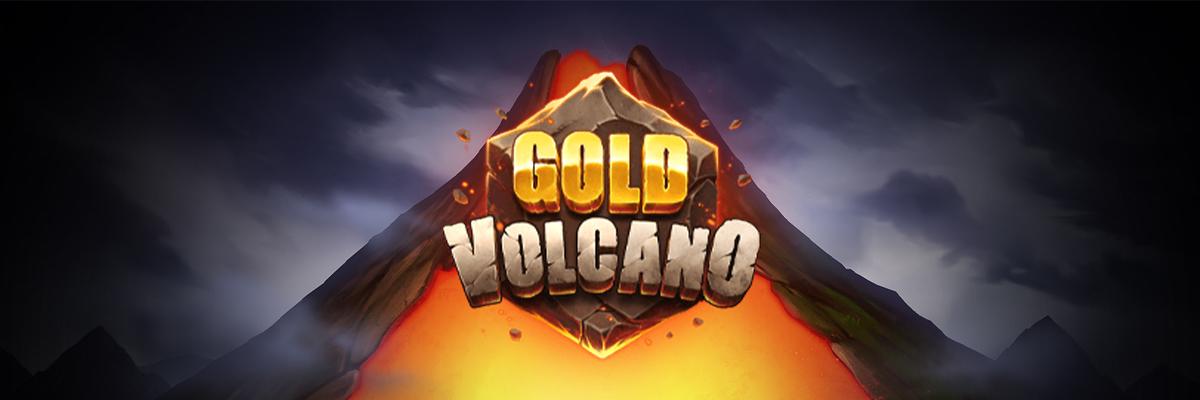 Play'n GO lanserer spilleautomaten Gold Volcano i dag Banner