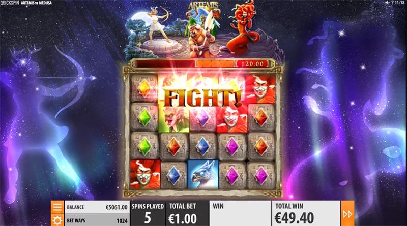 Quickspin lanserer spilleautomaten Artemis vs Medusa slot images - Norges.Casino