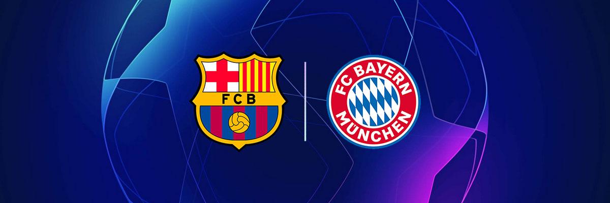 Tips til odds på Barcelona - Bayern München Banner