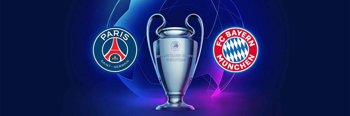 Tips til odds på PSG - Bayern München Banner