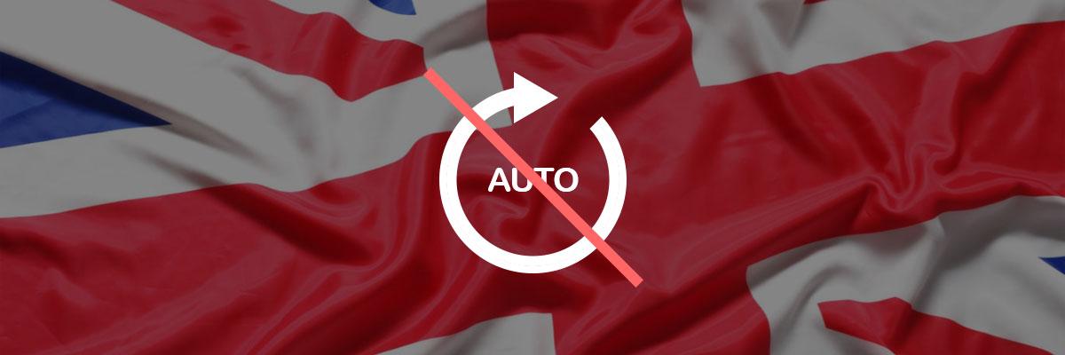 UKGC vil fjerne autospinnfunksjon fra spilleautomater Banner